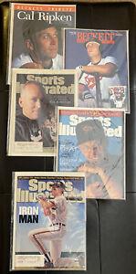 5 Vintage 1995 Magazine Lot of Cal Ripken, Jr Covers -  All Complete & Mint