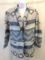 Vintage David Pal New York Western Native American Lined Blazer Jacket Womens Lg