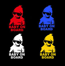 Color Funny Car Window Laptop Vinyl Decal Baby on Board Hangover Sign Sticker US