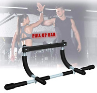 Chin Pull Up Bar Exercise Heavy Duty Doorway Fitness Multi Function Home Gym