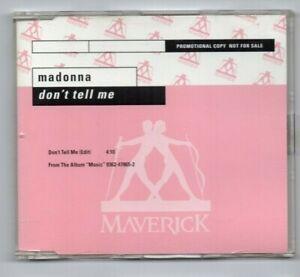 MADONNA : DON'T TELL ME ♦ USA PROMO MAXI-CD ♦ MAVERICK  #PRO2251