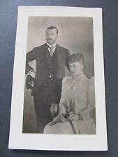 """Antique postcard - original homemade """"photo"""" copy of King George V - Australia"""