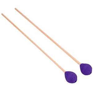 Marimba Mallets, 1 Pair &nbspMedium Hard Yarn Beech Handle For Percussion