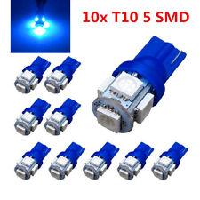 New listing 10x T10 5 Smd Led Blue Super Bright Car Lights Bulb W5W, 194, 168, 2825