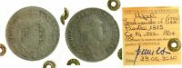 135) Napoli Ferdinando IV (1759-1816) Piastra 1815 Capelli Ricci - TEVERE BB+ R3