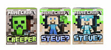 3 Different Minecraft Steve and Creeper Vinyl Figures Officially Licensed Jinx