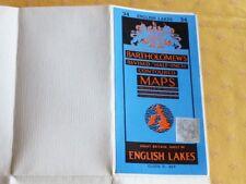 Ancien plan toilé lacs anglais 1961 comme neuf  Bartholomew's maps English Lakes