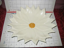 Retro Mid Century White Poinsettia Flower Candy Dish -Atlantic Mold