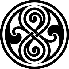 Window Wall Vehicle Display Dr Who Seal of Rassilon Decal Vinyl Sticker 001