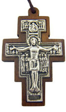 Saint St Francis of Assisi San Damiano Tau Cross Crucifix Pendant Necklace, 30In