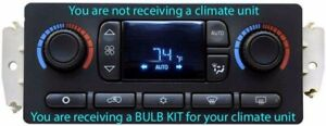 BULB KIT for 2003-2006 Chevy Silverado & GMC Sierra Auto Climate Controls