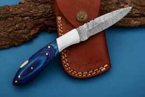 MH KNIVES RARE CUSTOM DAMASCUS STEEL FOLDING/POCKET KNIFE BACK LINER LOCK MH-36