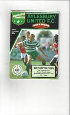 Aylesbury United v Northampton Town FA Cup 1989/90 Football Programme