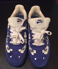 Mens Nike Air Royal Blue And White Floral Hawaiian US Size 12