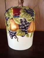 "Sonoma Villa Fruit Motif  7"" Canister Home Interiors BH&G"
