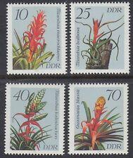 DDR East Germany 1988 ** Mi.3149/52 Blumen Flowers Flora Bromelien