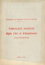 Catalogue Vente - COLLECTION de Yves LE MOYNE - 1912