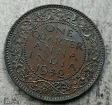 1942 India 1/4 Anna - Very Nice Coin - See PICS