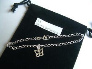 New 925 Sterling Silver Bracelet butterfly charm.
