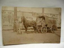 VERY RARE Media billboard Advertise FOSTER & KLEISER 1910 PC Photo horse wagon
