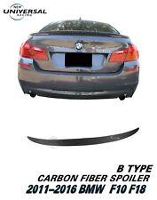 Carbon Fiber Rear Trunk Spoiler for 11-16 BMW F10 F18 5 Series 528i 535i M5 (B)