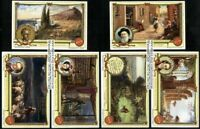 Giacomo Leopardi Italian Poet Set Of 6 60+ Y/O Trade Ad Cards