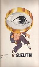 """Sleuth""  Souvenir  Program   Broadway  1970  Anthony Quayle & Keith Baxter"