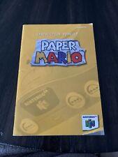 Nintendo 64 N64 Manual Only Paper Mario