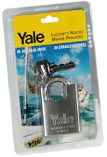 Cadenas 50mm Tout en inox Anse Haute Protection Yale + 2 clés