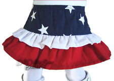 """Patriotic Ruffle Skirt for 18"""" American Girl Doll Clothes Western Cowgirl Cowboy"""