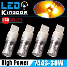 4 X High Power Amber Yellow LED Turn Signal Light Bulbs 30W 7443/7440 US