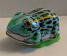 Vintage Large YONE made in Japan TIN LITHO WIND UP HOPPING FROG