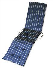 KMH® Deckchair Auflage blau 184 x 47 cm Sitzpolster Sitzbezüge Sonnenliege