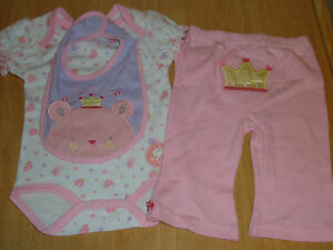 NWT Baby Girl 3 piece set 3-6 months pink