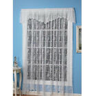 "Butterfly Lace White Curtains/Valance Easy-Care Polyester Machine Wash 15""-84"""