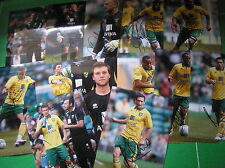 Norwich City FC 13 x Different Signed 2012/13 12x8 Player Photographs