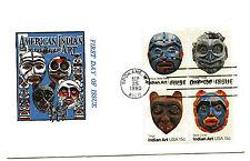 1834-37 Indian Masks, Jack Davis, block of 4  FDC