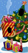 Christmas tree and Gift Face in the Hole Christmas Peep Board/ Photo Board