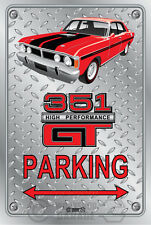 Parking Sign Metal - Ford XY GT 351 - Track Red