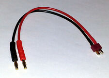 T Plug Deans to 4mm Charging Charge Cable Lipo 200mm Length Ships from USA