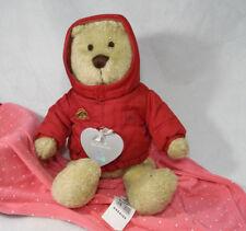 "Baby Gap Share the Warmth OSU Brannan the Teddy Bear Plush 14"" Red Jacket"