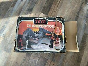 Star Wars Vintage ROTJ 1983 Tie Interceptor MIB boxed catalog/unused stickers