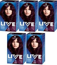 5x Schwarzkopf Live Intense Colour 87 Mystic Violet