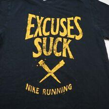 NIKE RUNNING Run Runner EXCUSES SUCK TEE T SHIRT Sz Mens M