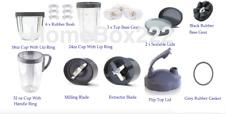 22 piece Replacement  Accessories Set (Cups  Lids  Blades) Nutribullet 600/900W