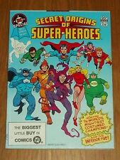 DC BLUE RIBBON DIGEST SPECIAL #22 SECRET ORIGINS SUPERHEROES BRITISH POCKET BOOK
