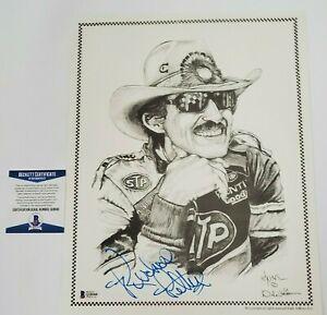 Richard Petty Signed Print 11X14 Beckett COA STP Nascar Racing The King