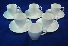 5 Wedgwood WINDSOR Flat Cup and Saucer Set (Dot & Rib Design)  11 Piece