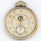 Hamilton 922 14KW Gold Knights Templar Freemason 23j 12s Pocket Watch 46mm w/Box