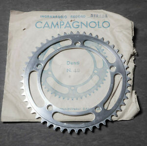 VINTAGE CAMPAGNOLO NUOVO RECORD CHAINRING 49T 144bcd NEW NOS
